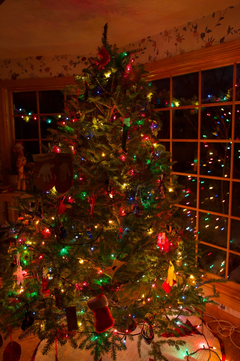 Camera settings for a Christmas Tree at Night
